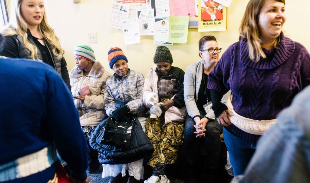 Refugee at a resettlement center