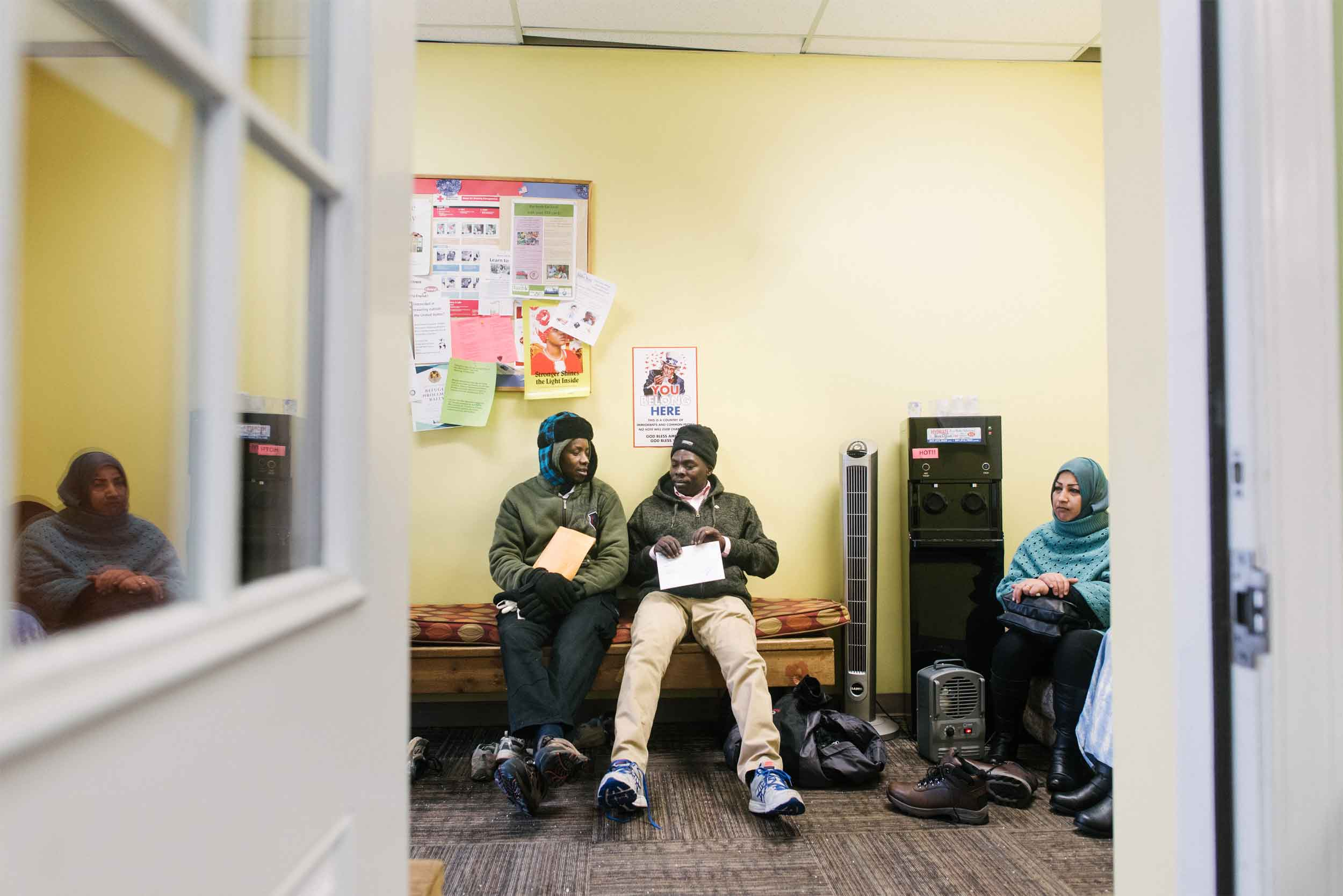 Clients participate in programs inside the IRC office in Boise